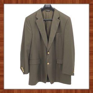 Jos. A. Bank Forest Green Wool Blazer Size 50L